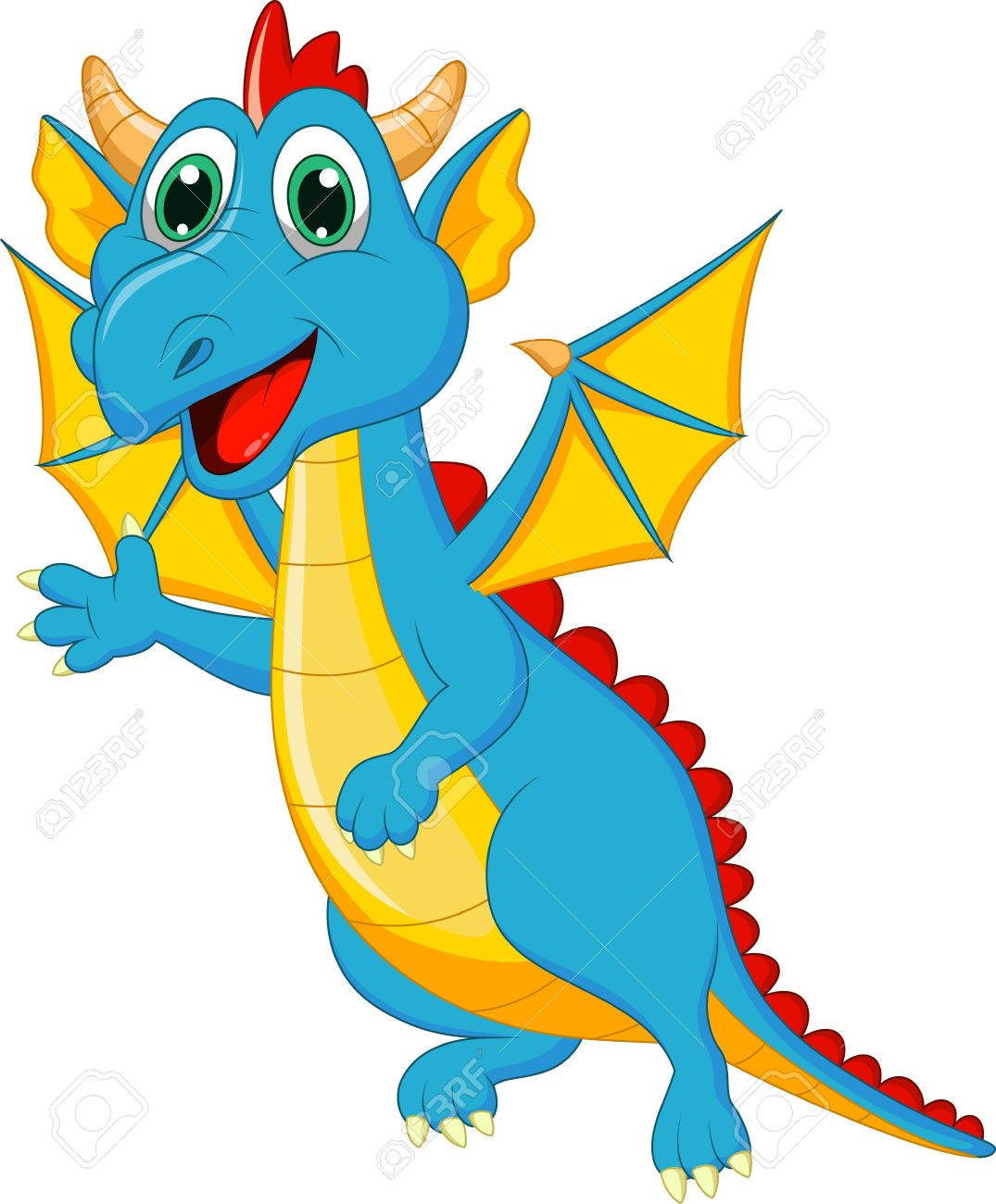 1075x1300 Cute Dragon Cartoon Royalty Free Cliparts, Vectors, And Stock