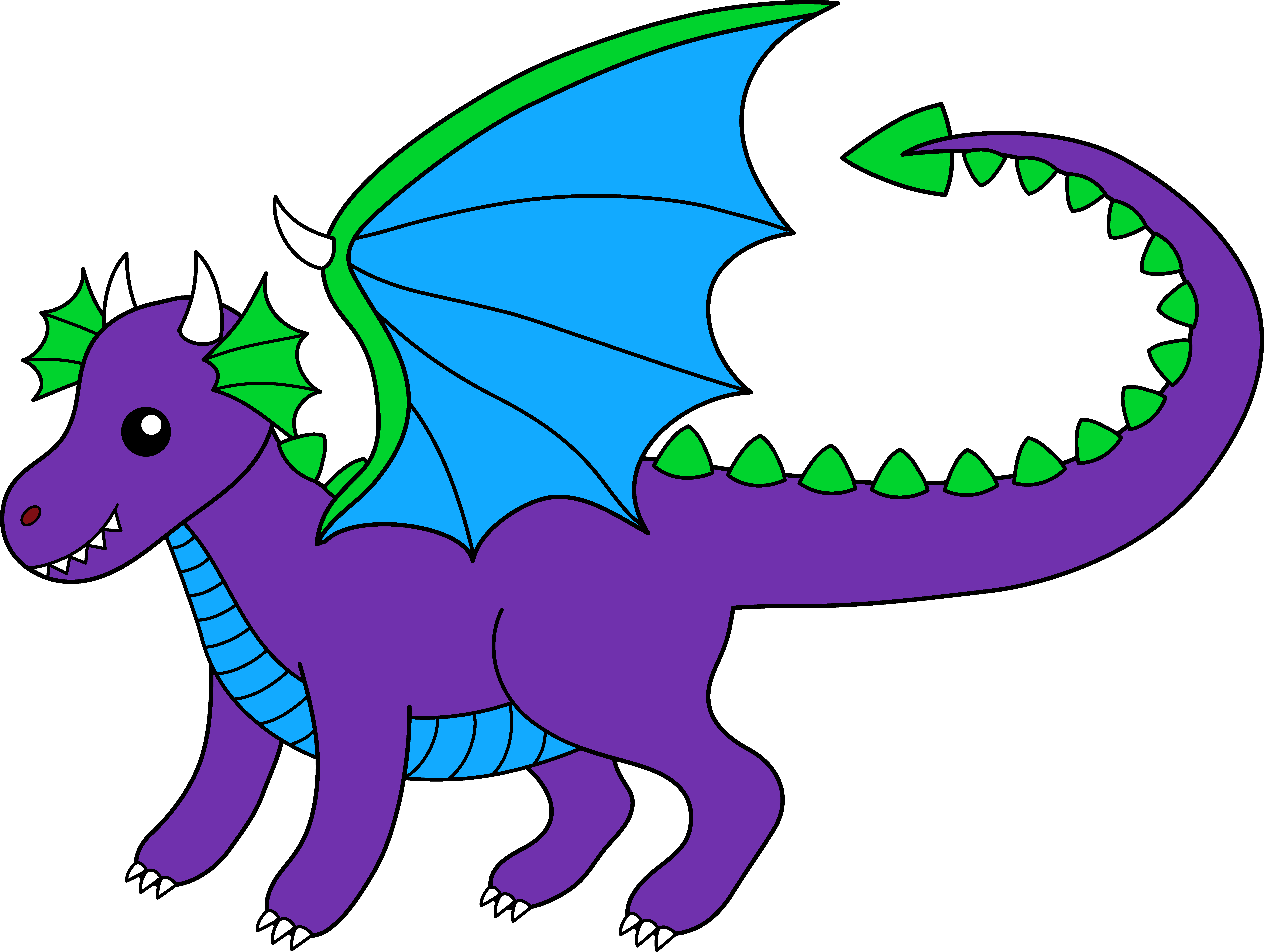 8480x6389 Cute Dragon Clipart