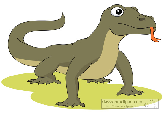 550x380 Komodo Dragon Clipart