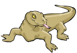 250x172 Reptile Clipart Komodo Dragon