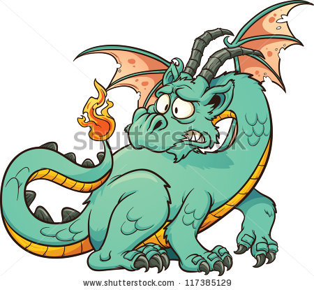 450x415 Scary Clipart Dragon