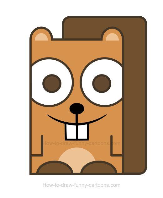 520x630 The Best Beaver Drawing Ideas Beaver Cartoon