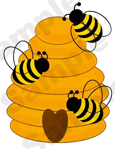 Cartoon Bee Hive Clipart