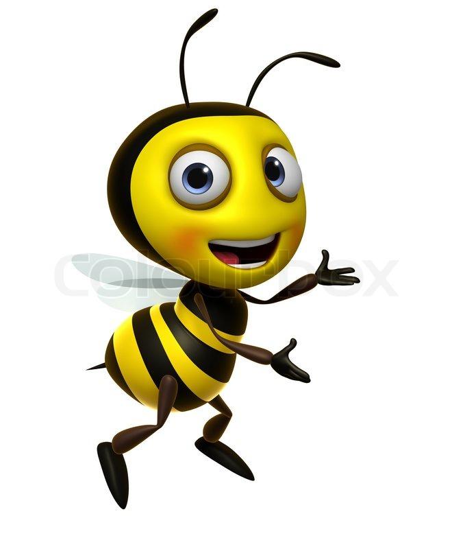 676x800 Cartoon Honey Bee Stock Photo Colourbox