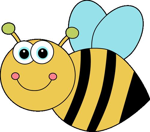 500x442 Cute Cartoon Bee Clip Art