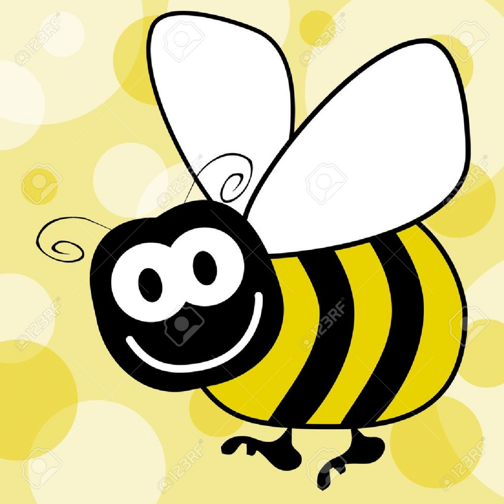 1024x1024 How To Draw A Cartoon Bumble Bee Bumble Bee Cute Bee Clip Art Love