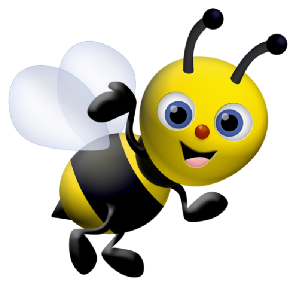 600x600 Cartoon Baby Bees