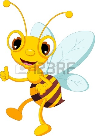 313x450 Bees Cartoon Holding Flower And A Beehive With Forest Background