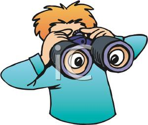 300x252 Boy Spying Through A Pair Of Binoculars