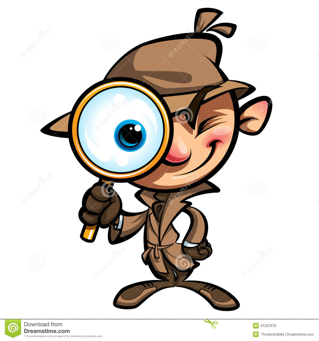 1300x1390 Detective Searching Clipart