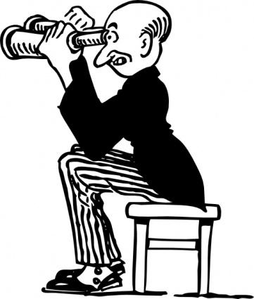 361x425 Man Using Binoculars Clip Art Clip Arts, Clip Art