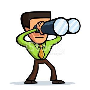 300x300 Man With Binoculars Stock Vectors