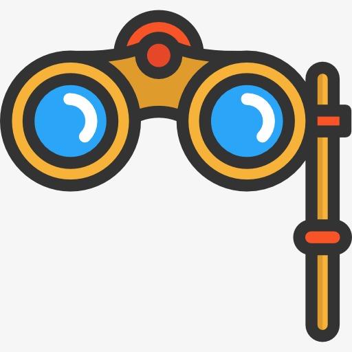 512x512 Binoculars, Glasses, Cartoon Png Image For Free Download