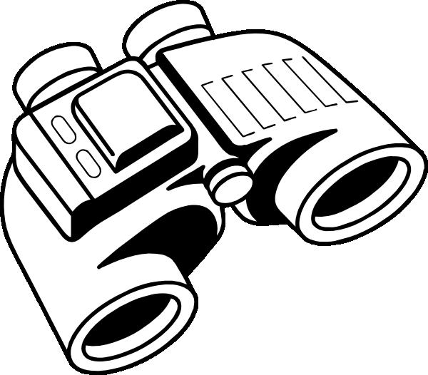 600x526 Binoculars Clip Art