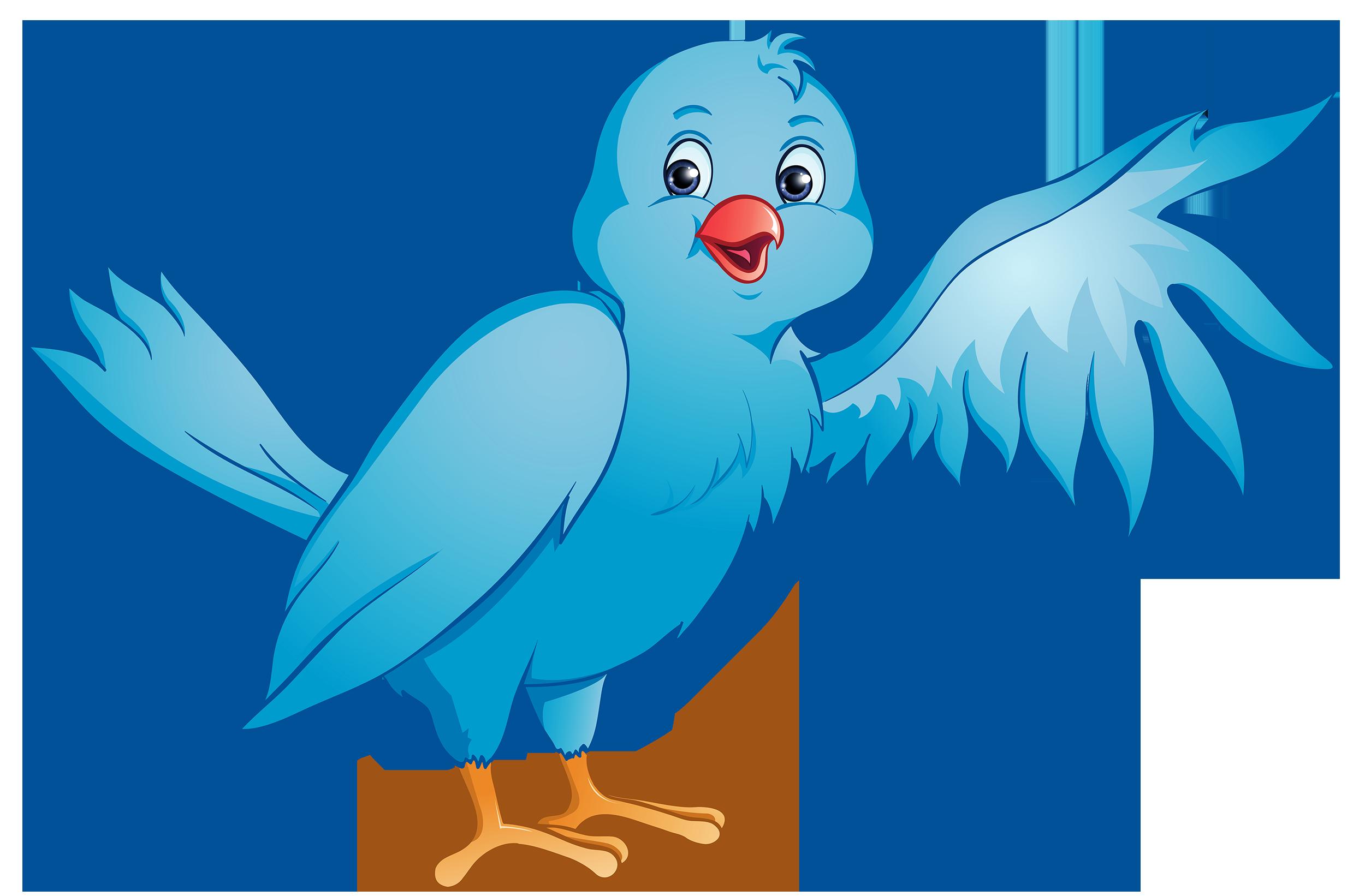 2500x1642 Bird Clipart Image Clip Art Cartoon Of A Blue Bird Standing Up
