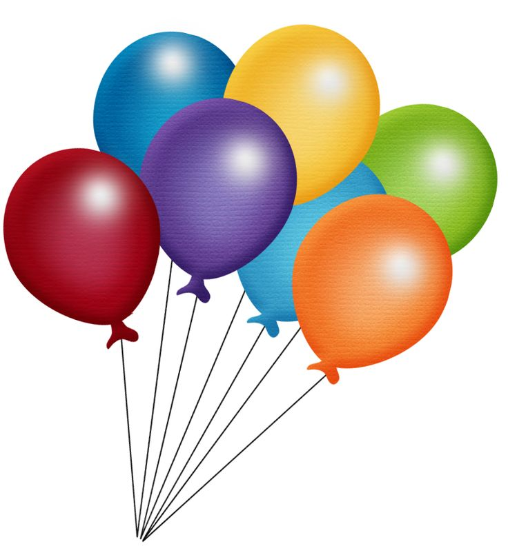 Cartoon Birthday Balloons Clipart