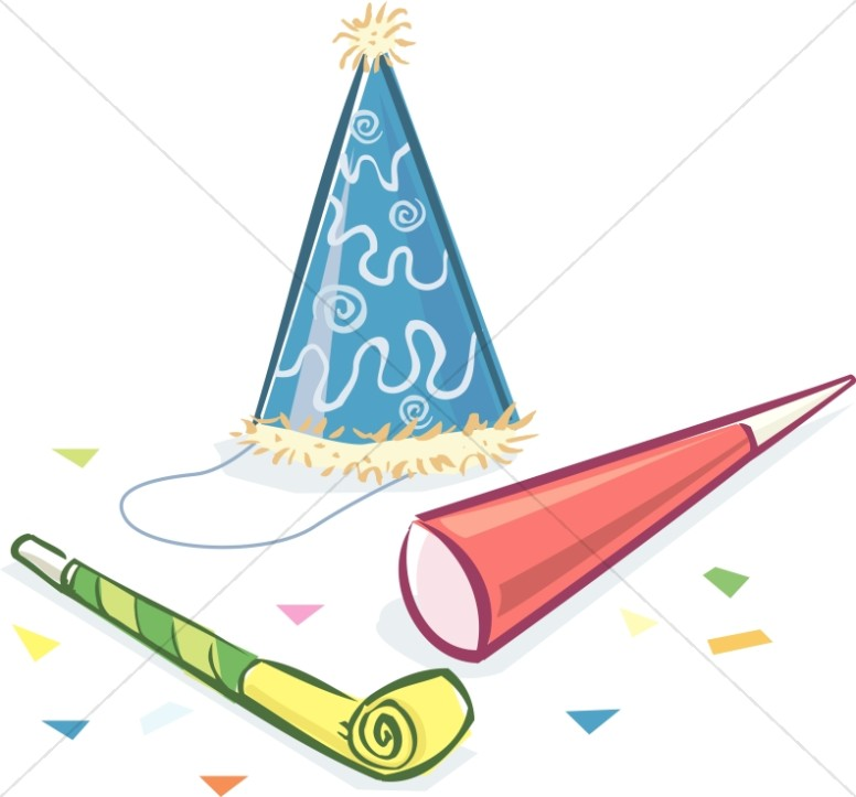 776x723 Birthday Hat And Noise Makers Church Clipart
