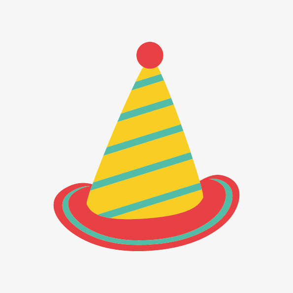 595x595 Birthday Hat Cartoon Element Free Download, Birthday Hat, Cartoon