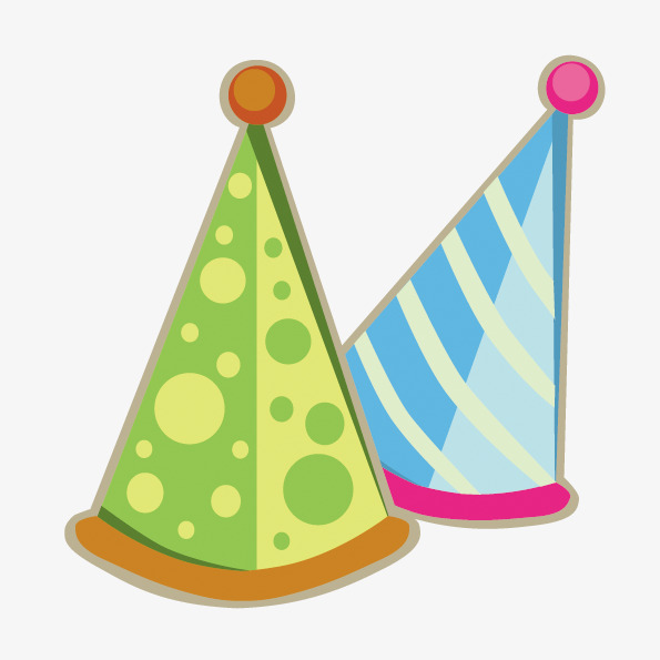 595x595 Cute Cartoon Birthday Hat, Party Hats, Birthday, Get Together Png