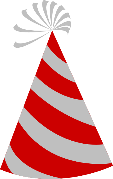 378x597 Red And Grey Party Hat Clip Art