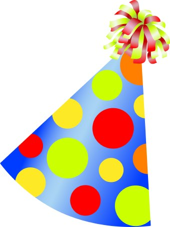 340x453 Birthday Party Hat Clipart