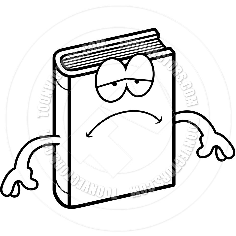 Sad Math Book Clipart