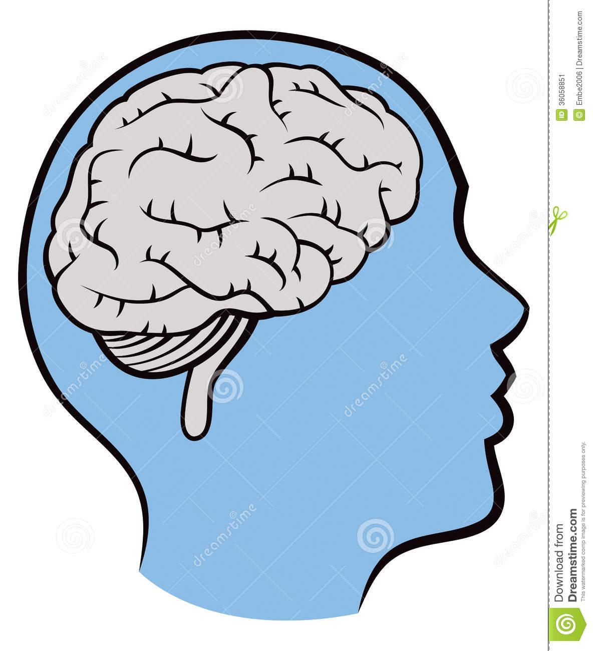 Brain In Head Clipart