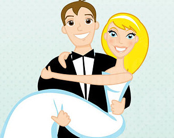 Cartoon Bride And Groom Clipart