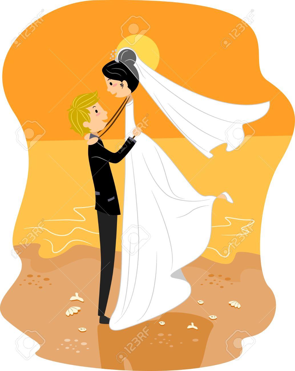 1034x1300 Couple Clipart Beach Wedding