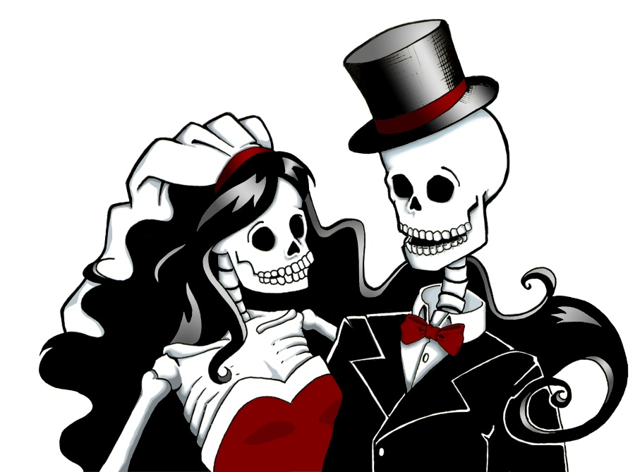 900x669 Zombie Clipart Bride And Groom