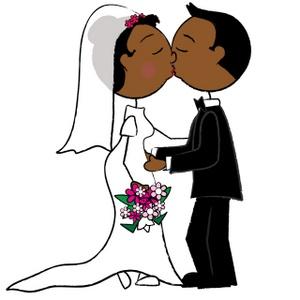300x300 Stick Figures Kissing Bride Groom Clip Art Images Bride