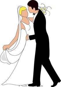 211x300 Bride And Groom Clip Art