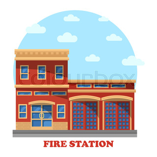 320x320 Fire Station And Hospital Building, Metro And Police Station