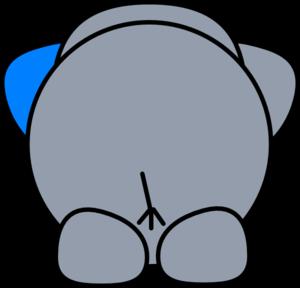 300x288 Elephant Butt Clip Art