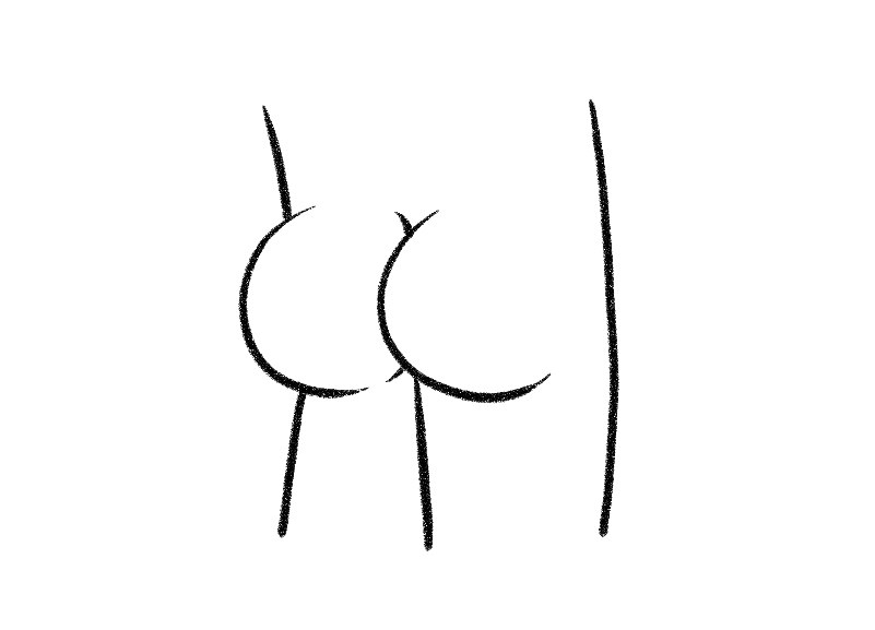 801x577 Here's How To Draw A Butt