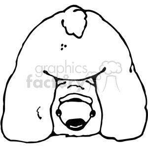 300x300 Royalty Free Polar Bear Butt 387435 Vector Clip Art Image
