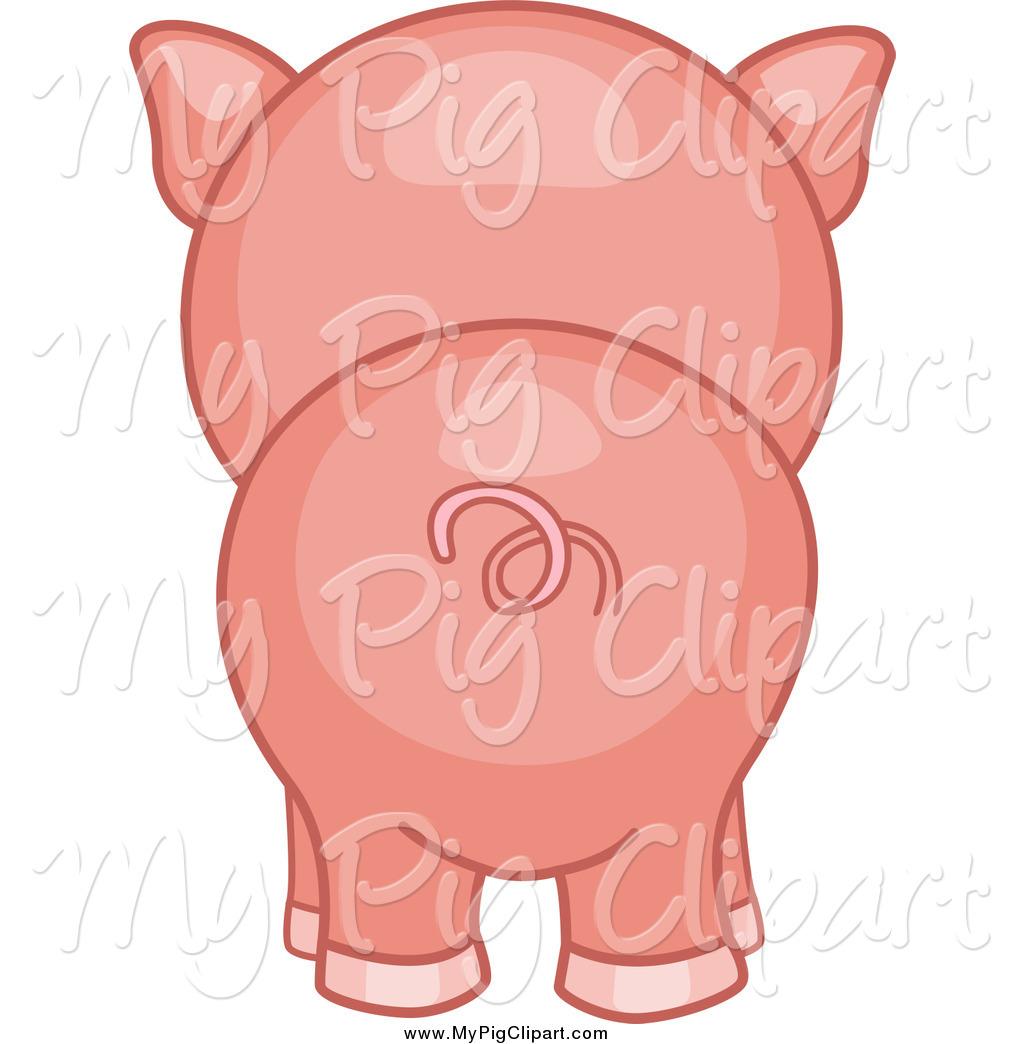 1024x1044 Swine Clipart Of A Piggy Butt From Behind By Bnp Design Studio