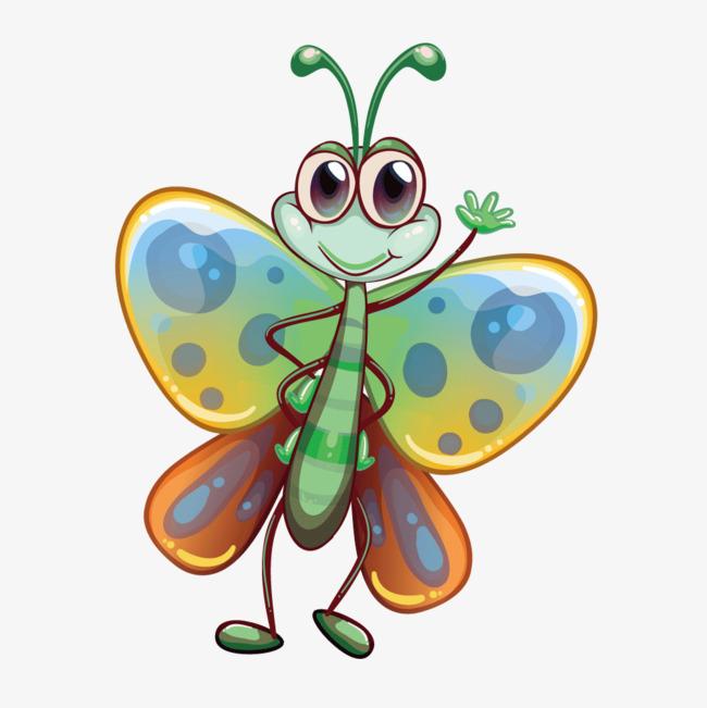 650x651 Vector Cartoon Big Butterfly, Butterfly, Vector Butterfly, Cartoon