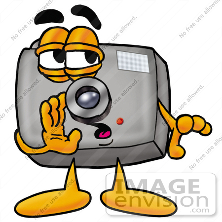 450x450 Clip Art Graphic Of A Flash Camera Cartoon Character Whispering