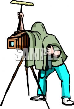 239x350 Photographer Taking A Picture With An Vintage Camera