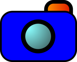 298x243 Cartoon Camera Blue Clip Art