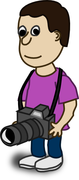 258x588 Cartoon Camera Man Clip Art