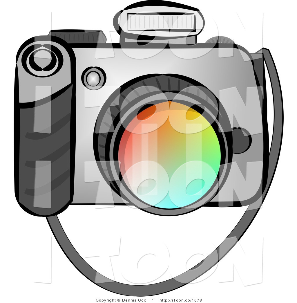 1024x1044 Cartoon Digital Slr Camera With Flash On Top By Djart