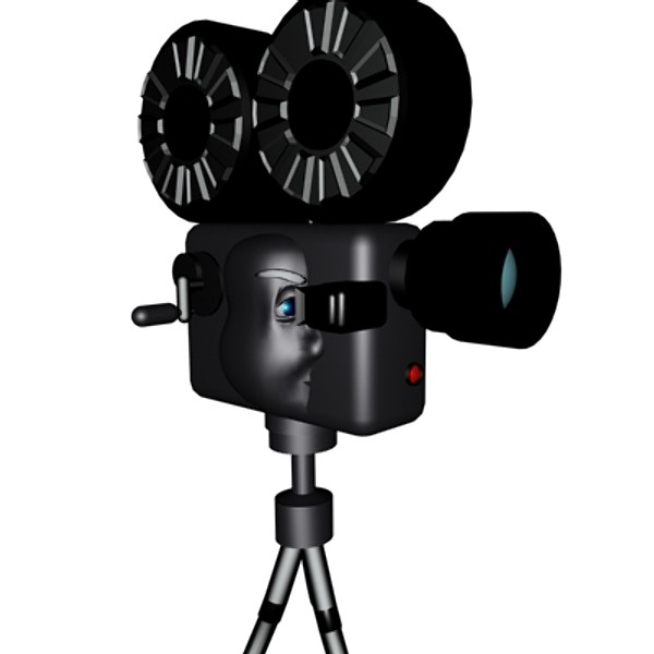 600x600 Cartoon Movie Camera Clipart