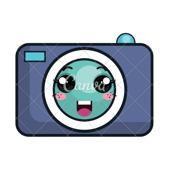 550x550 Kawaii Cartoon Camera