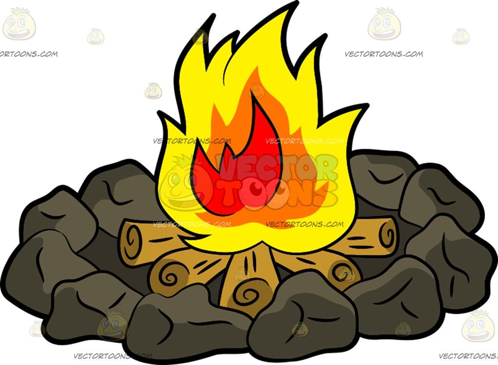 1024x751 Campfire Cartoon Clipart