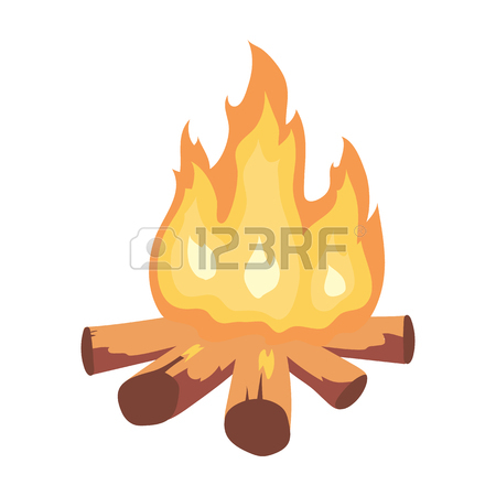 450x450 Campfire Of Stone Age Icon In Cartoon Style Isolated On White