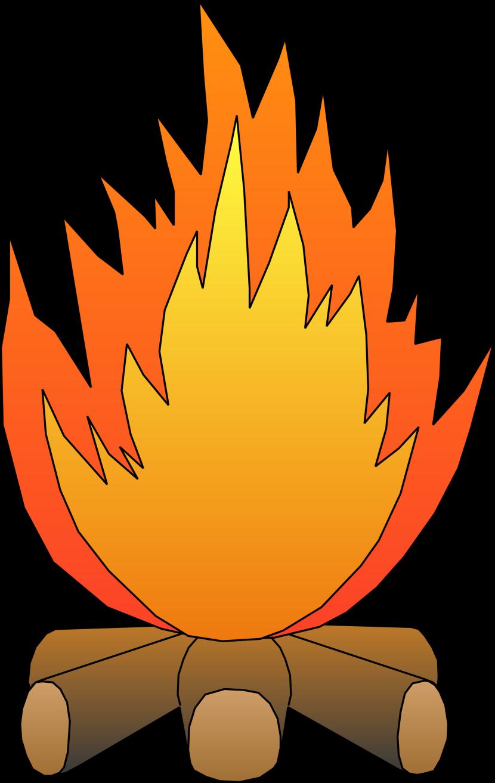 830x1313 Cartoon Campfire