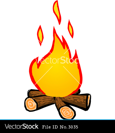 380x440 Cartoon Campfire Scene Clipart Panda