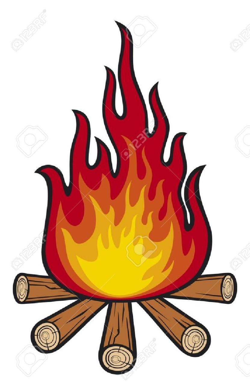 830x1286 Cartoon campfire clip art